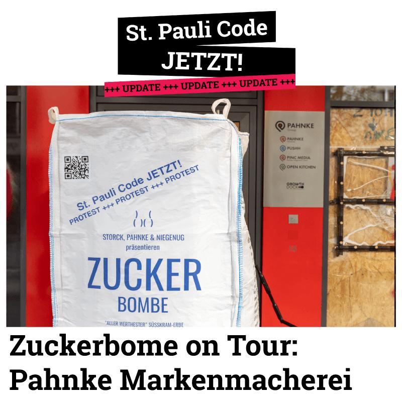 Pahnke Markenmacherei, Die Zuckerbombe on Tour. Wir suchen weiter den Dialog.